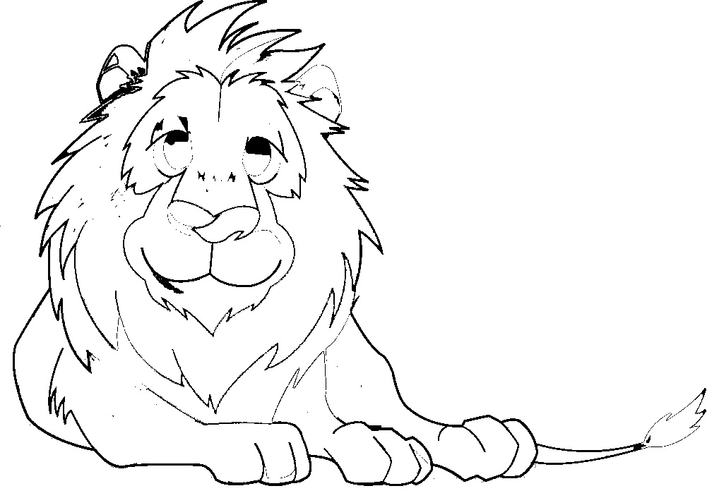 Lion Coloring Pages For Free