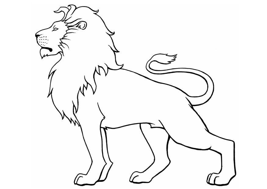 valentine coloring pages lion - photo#42