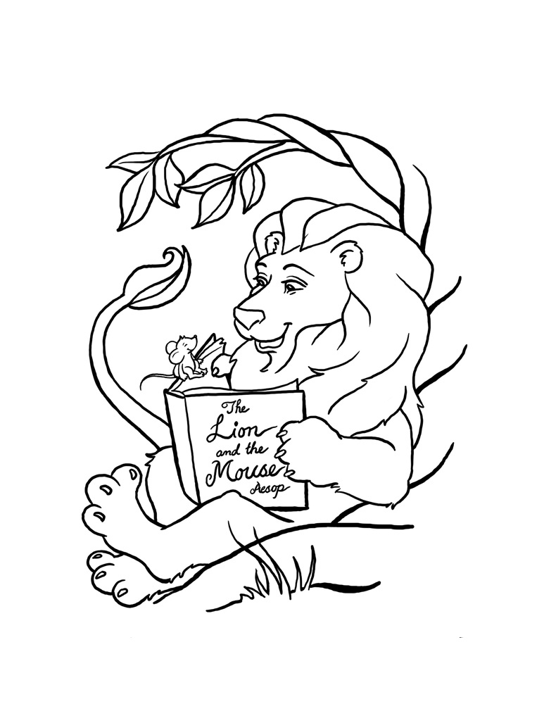 Lion Coloring Pages Images