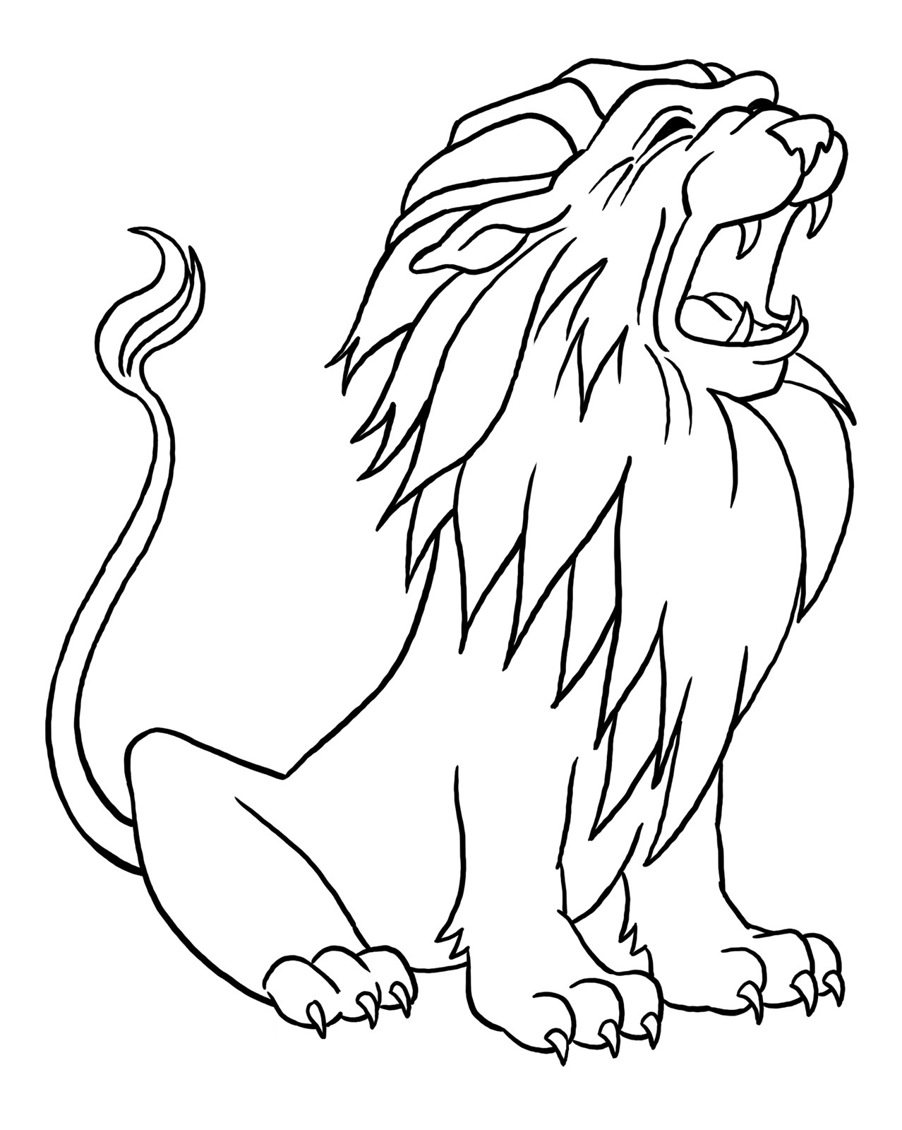 Lion Coloring Pages Kids