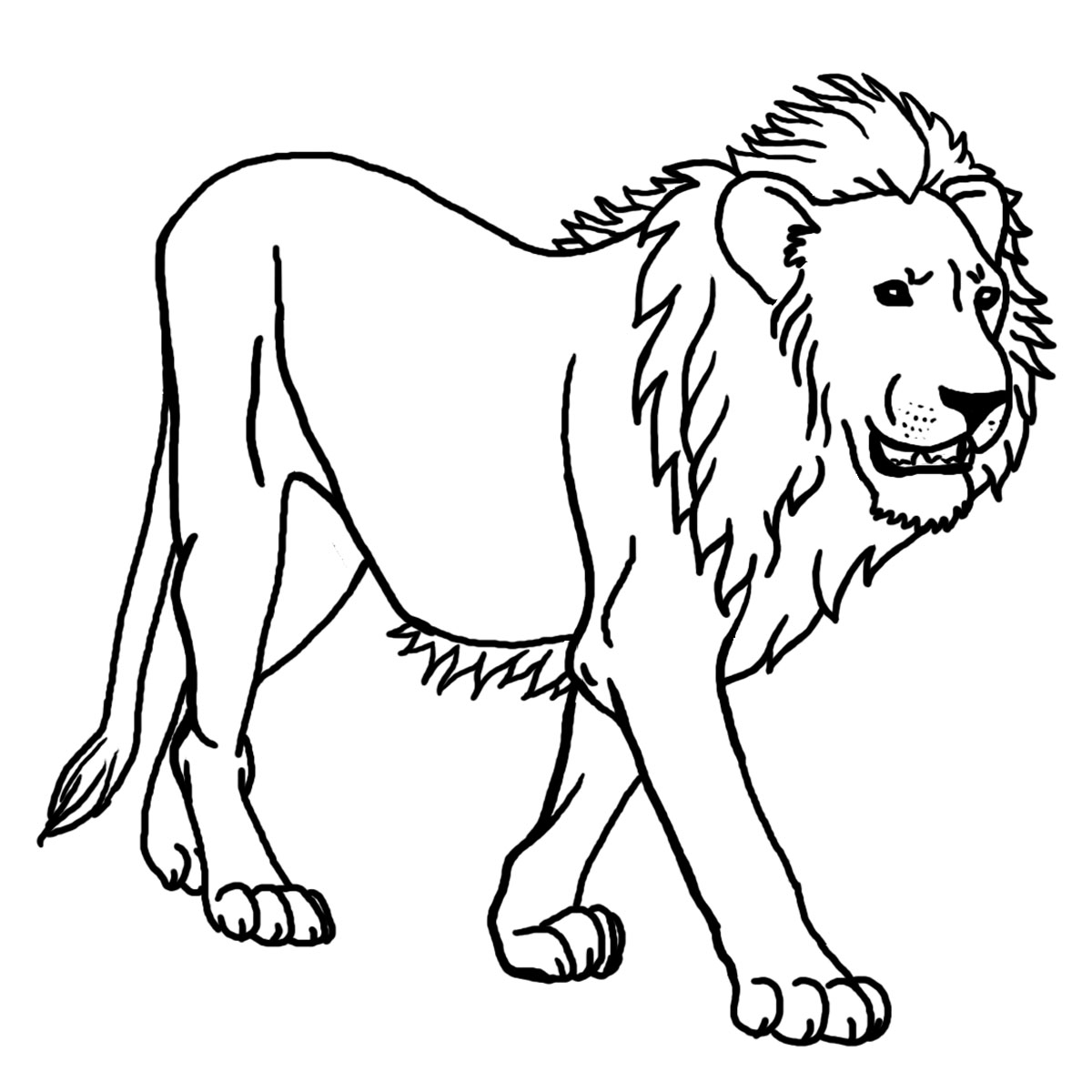 lion coloring pages to print - Coloring Page Lion