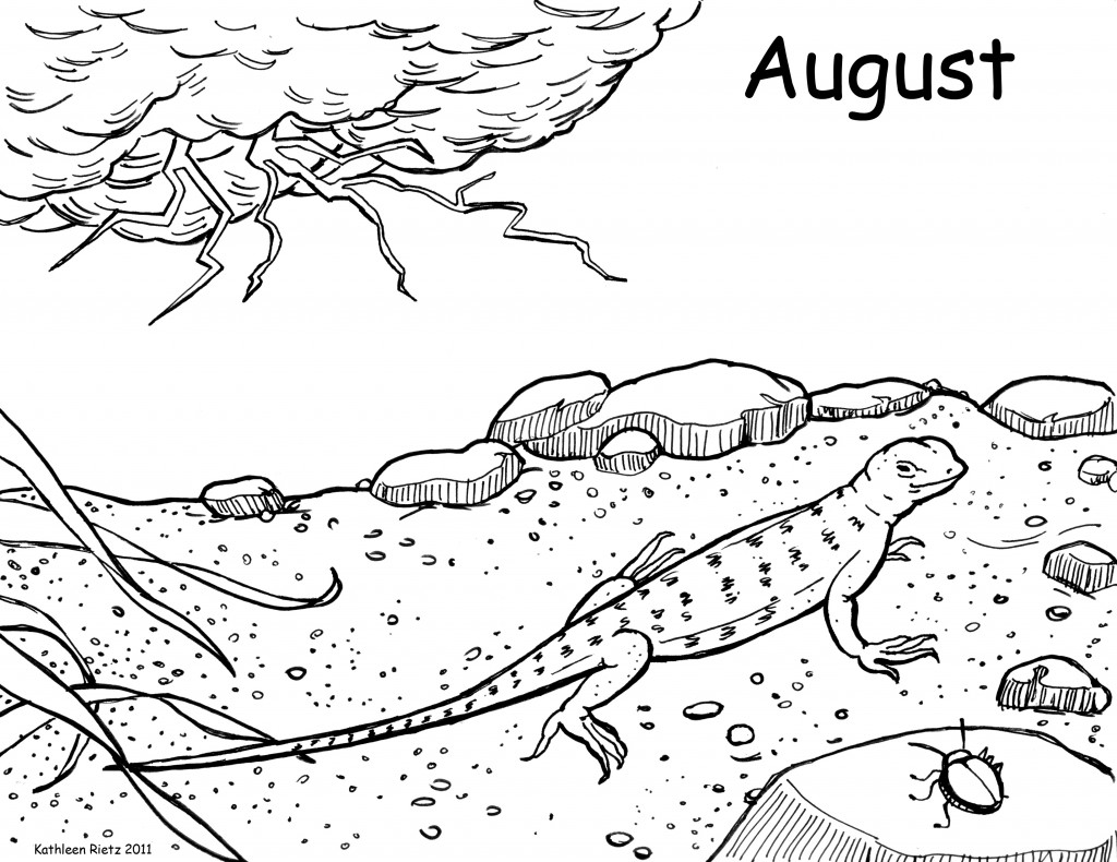 Lizards coloring pages to print - Lizard Coloring Pages Print