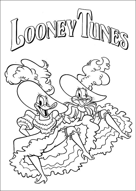 looney tunes coloring book pages - photo#26