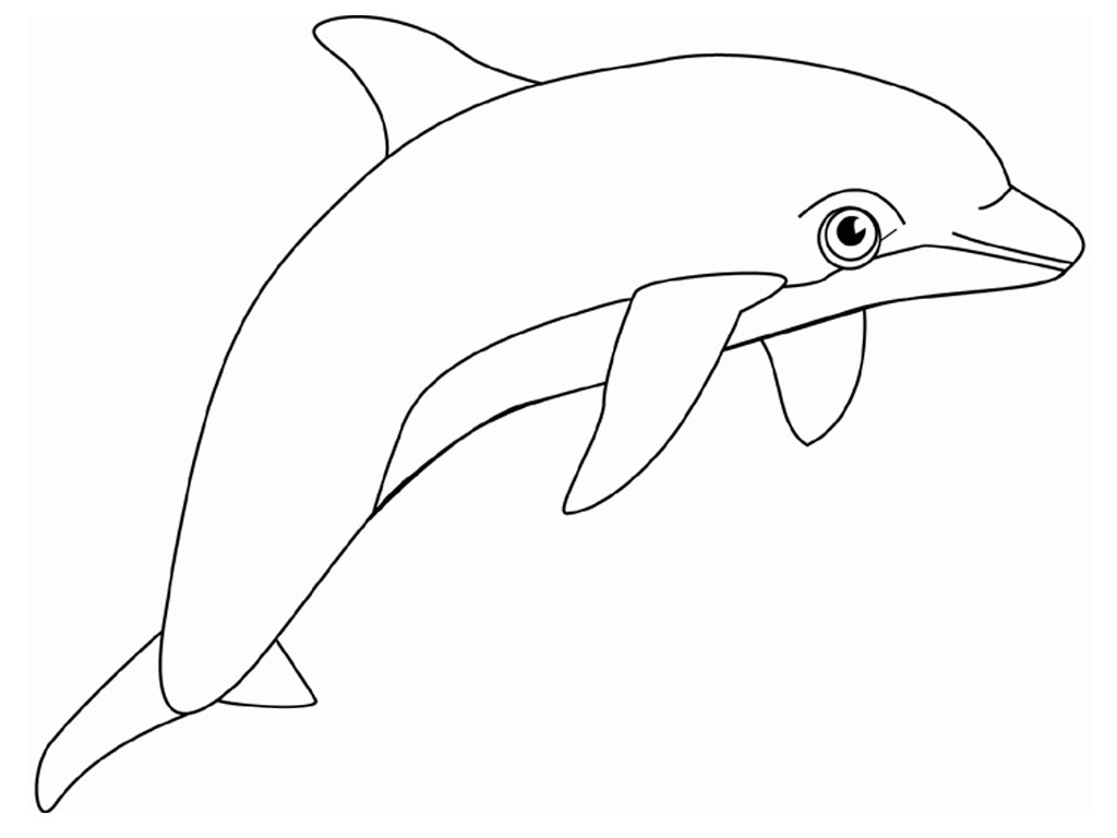 mermaid and dolphin coloring pages - Cute Dolphin Coloring Pages