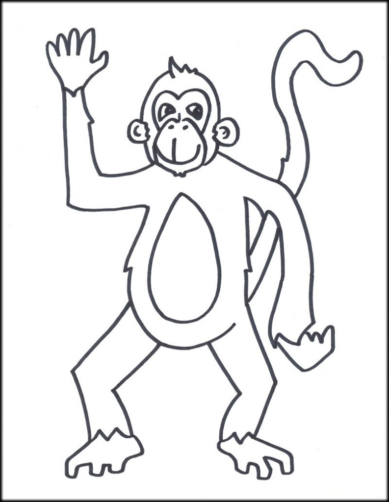 Monkey Coloring Pages Printable