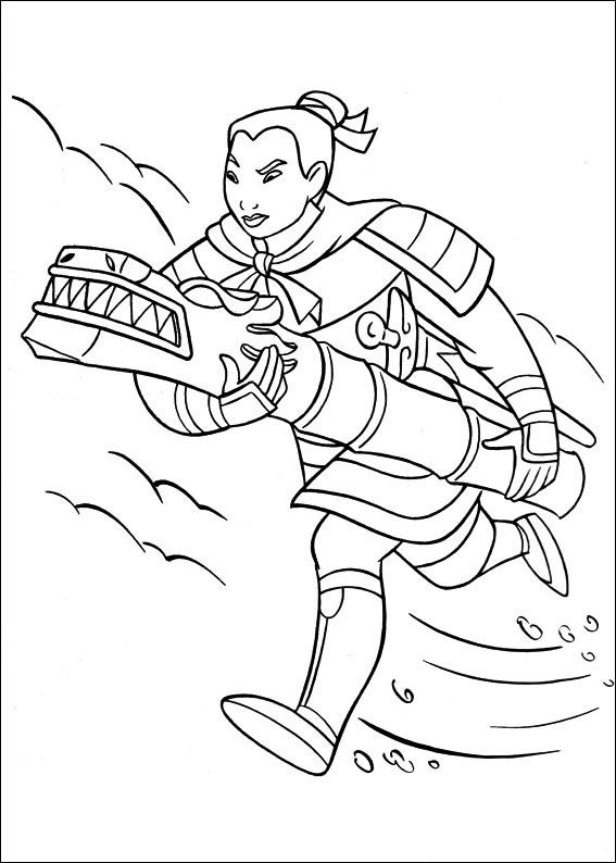 mulan coloring pages pictures