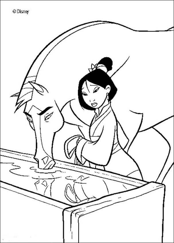 Mulan coloring book pages