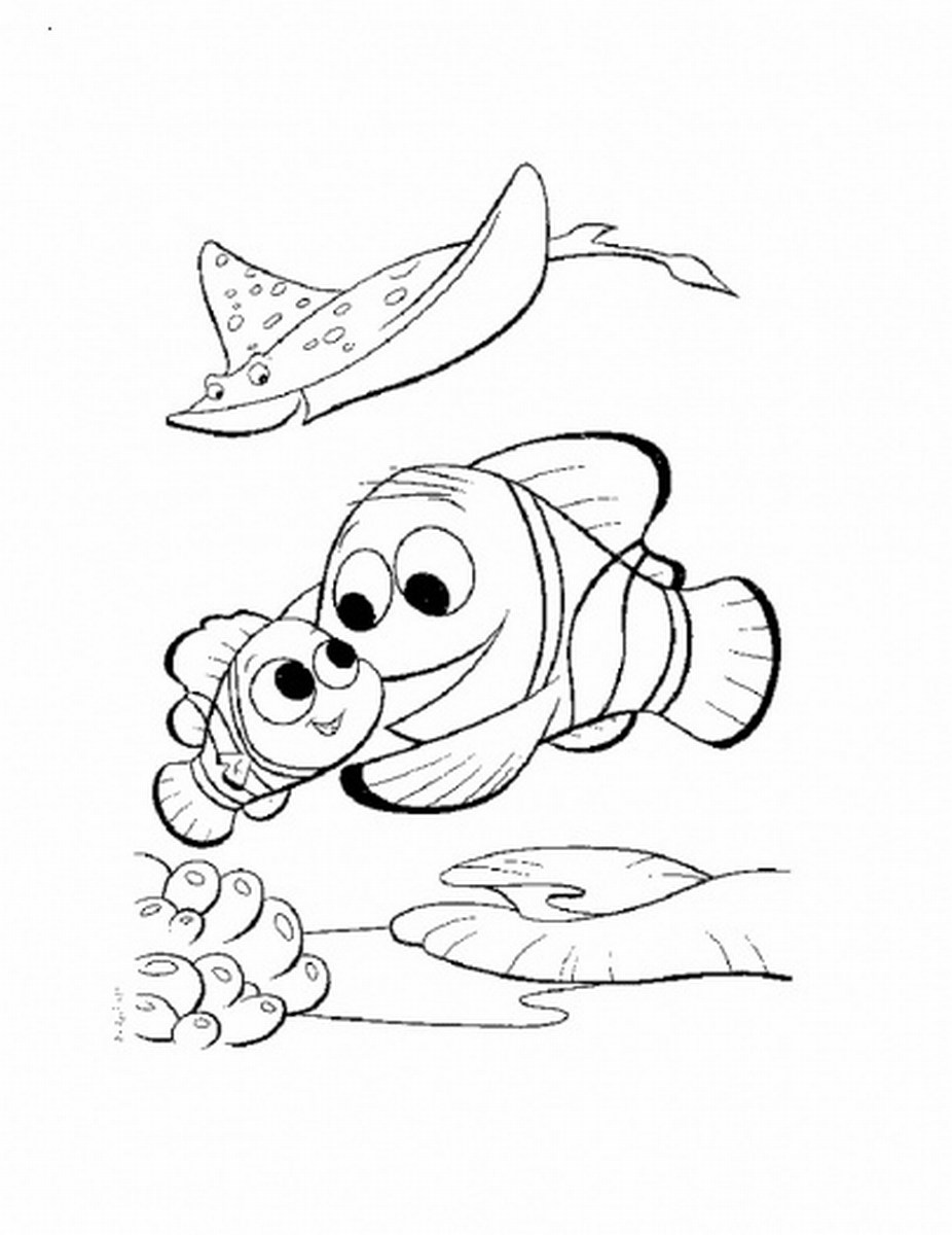 nemo coloring pages printable for kids - Pixar Coloring Pages Finding Nemo