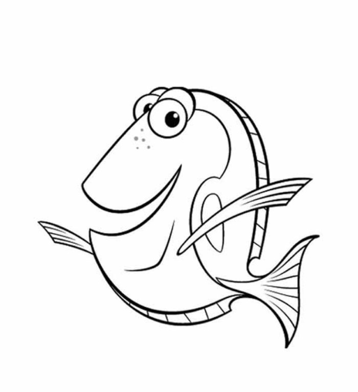 nemo coloring pages printable - Pixar Coloring Pages Finding Nemo