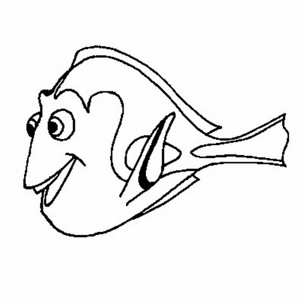 Free printable nemo coloring pages for kids for Color pages of fish