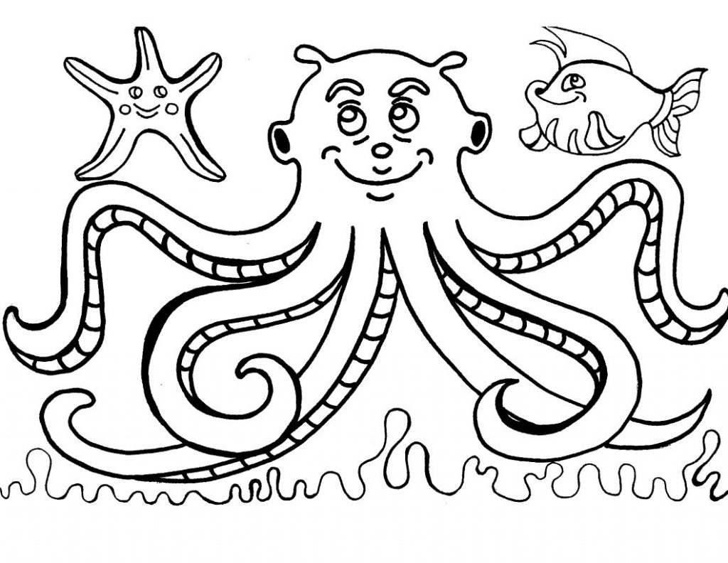 Free printable octopus coloring pages for kids Coloring book for toddlers