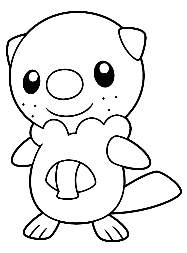 Oshawott Pokemon Coloring Page