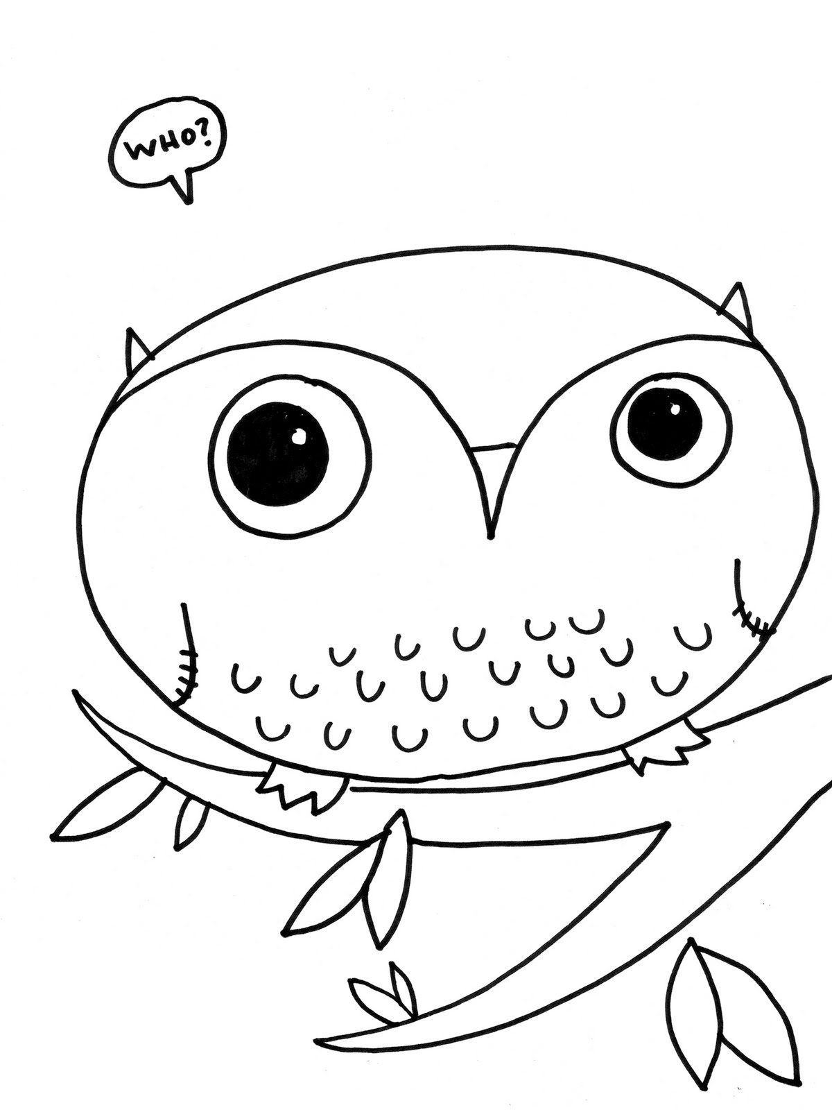 owl coloring pages free - Cute Owl Printable Coloring Pages