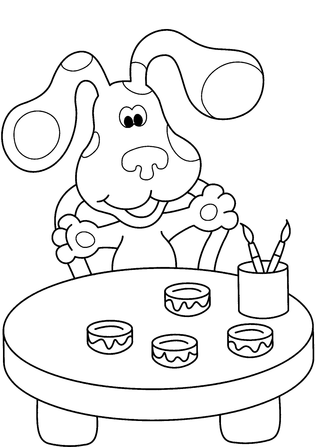 blues clues thanksgiving coloring pages - photo#5
