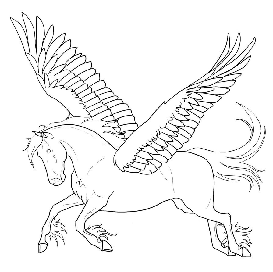 coloring pages of pegasus free printable pegasus coloring pages for kids
