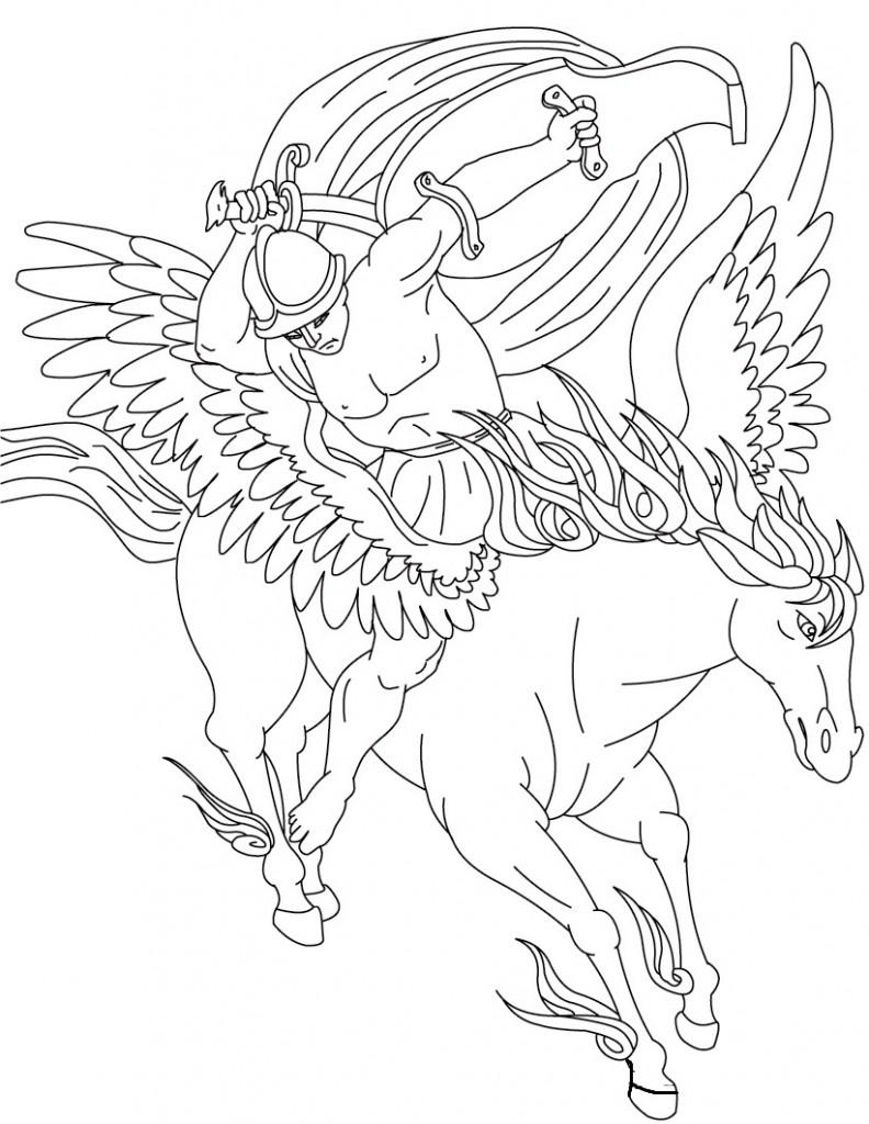 Free Printable Pegasus Coloring
