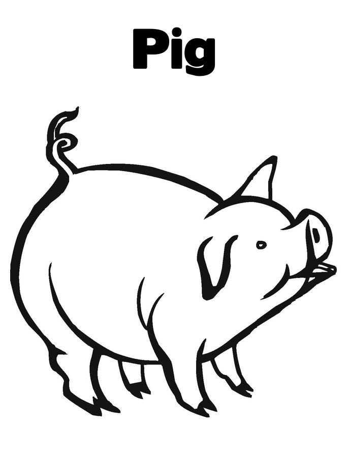 printable pig coloring pages | printable coloring - Peppa Pig Coloring Pages Print