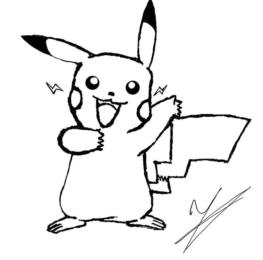 Pikachu coloring pages free printable - Pikachu Coloring Page Printable