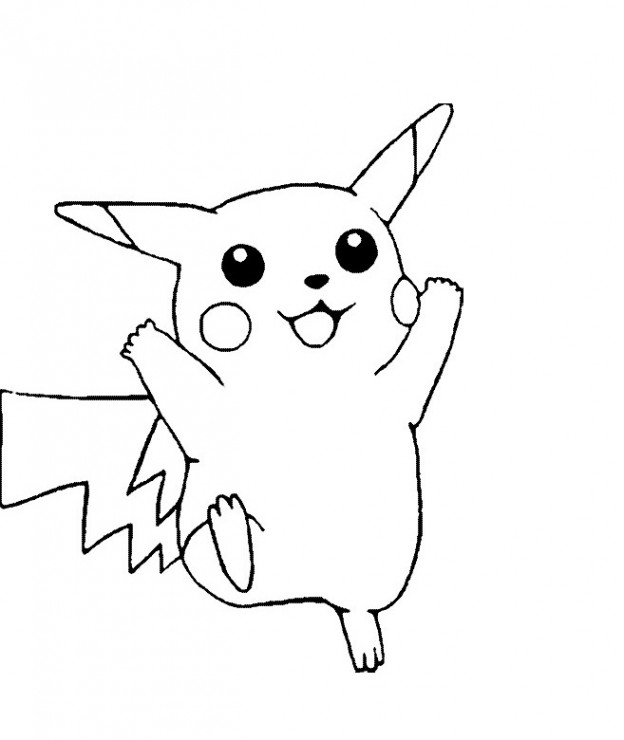 Free Printable Pikachu Coloring Pages For Kids Pikachu Coloring Pages