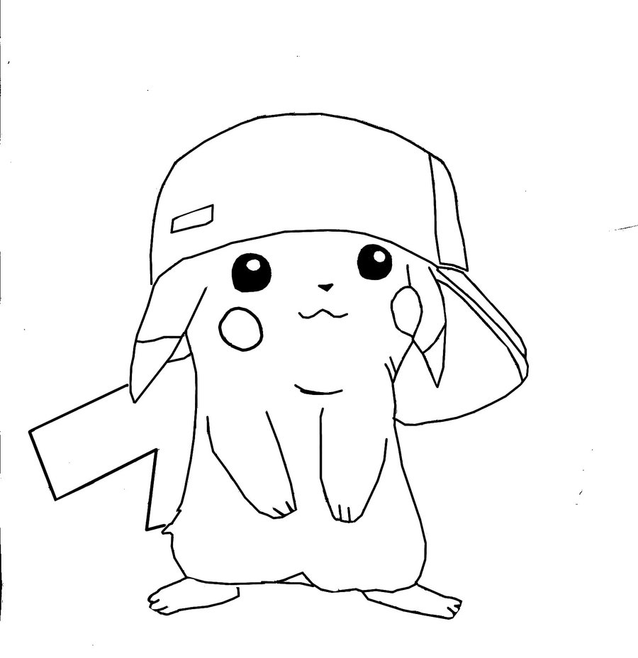 pikachu in action coloring pages - photo#32