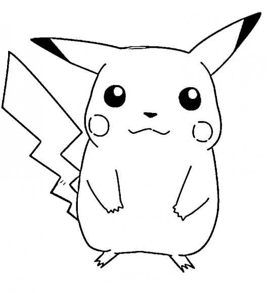 free printable pikachu coloring pages for kids - Print For Kids