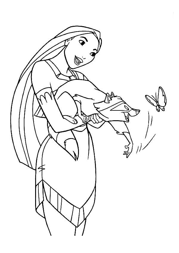 pocahontas meeko coloring pages - photo#18
