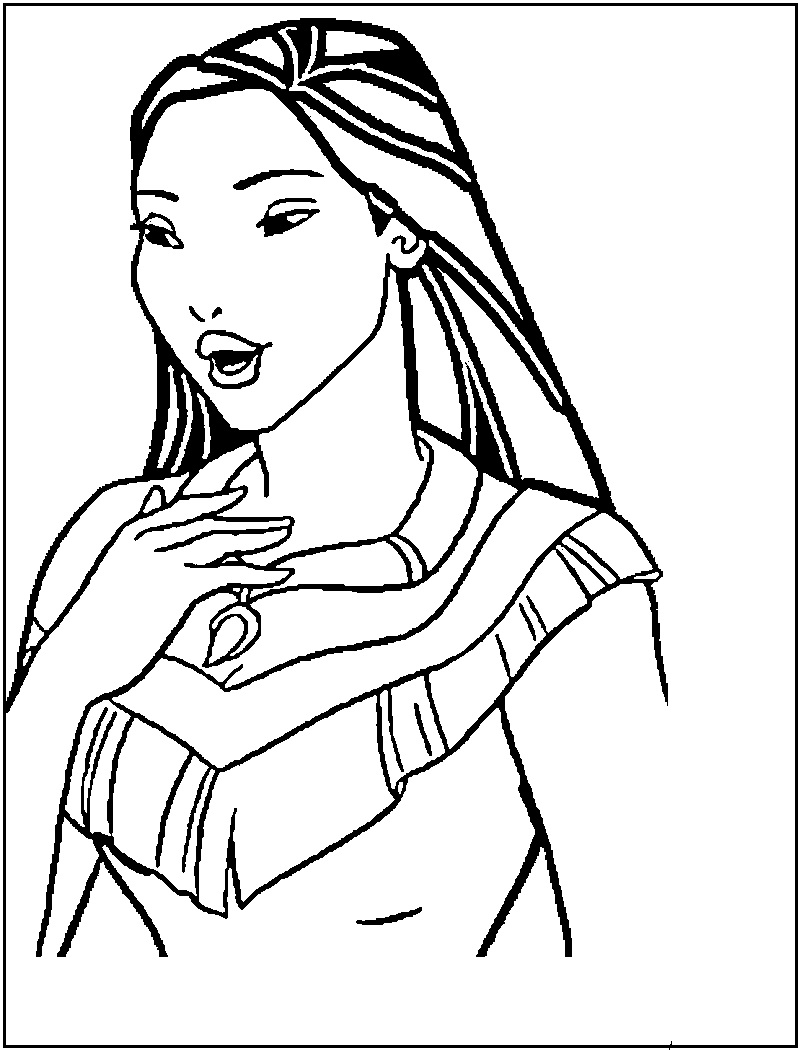coloring pages pocahontas - photo#7