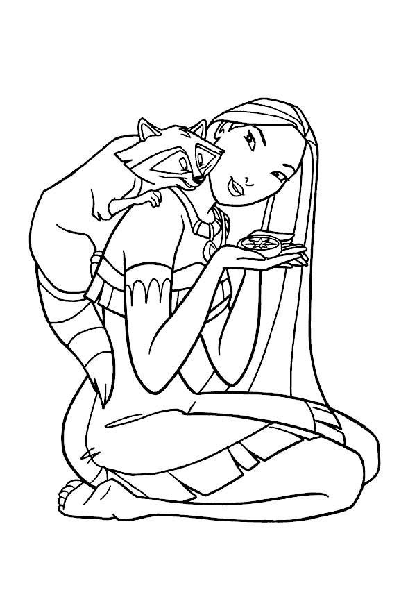 free pocohantas coloring pages - photo#19