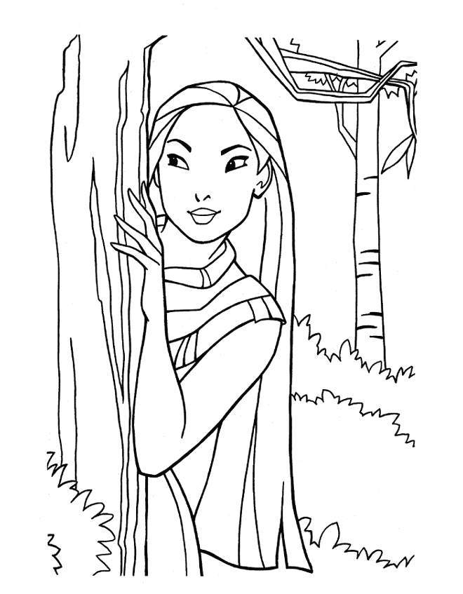 Coloring pages of pocahontas