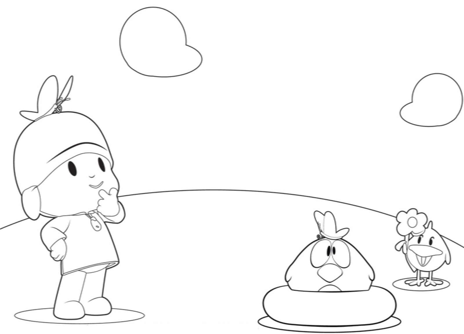 pocoyo coloring pages pictures - Pocoyo Friends Coloring Pages