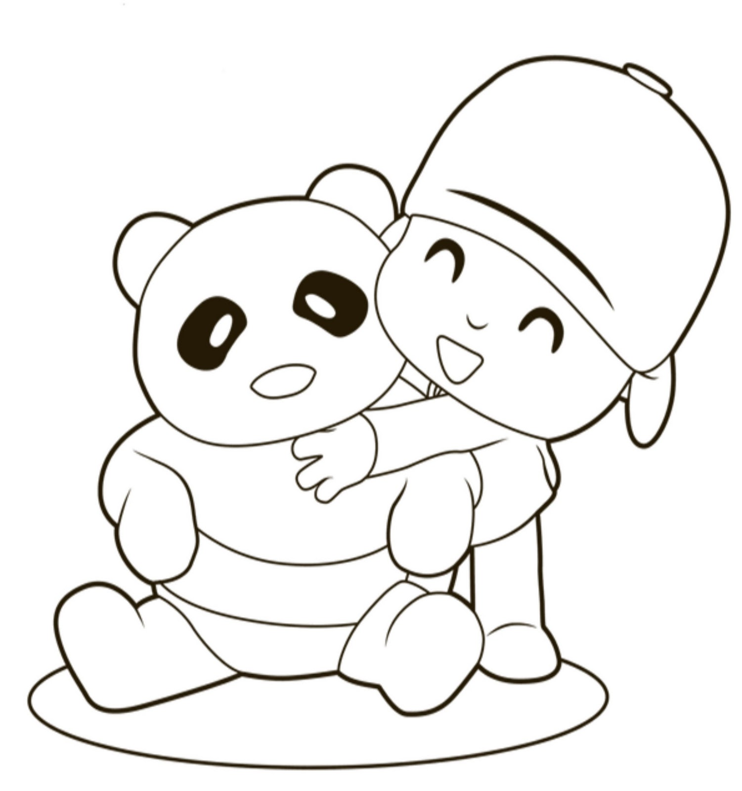 pocoyo coloring pages printable - Pocoyo Friends Coloring Pages
