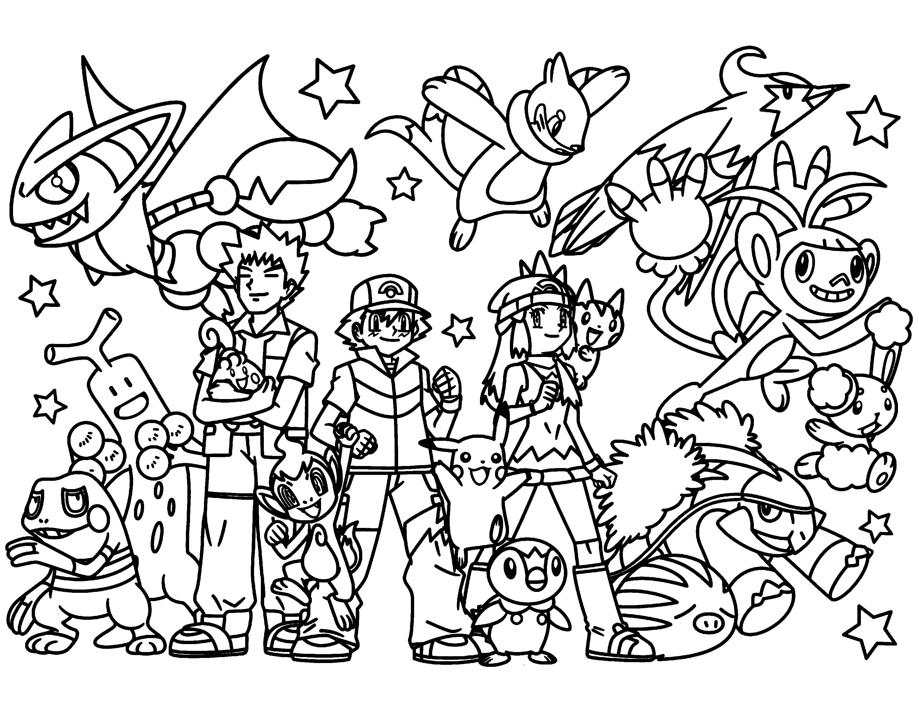 Pokemon Coloring Pages. Join your favorite Pokemon on an Adventure!