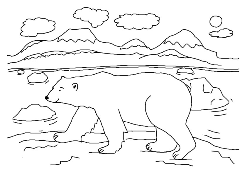 polar bear coloring pages preschool - photo#2