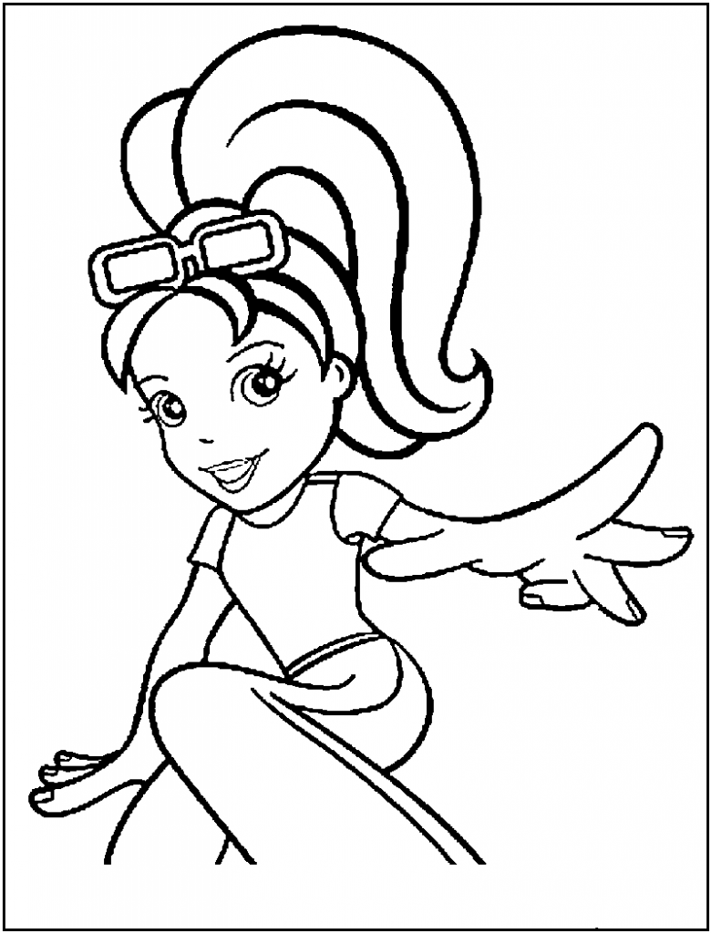 Polly Pocket Coloring Pages For Kids