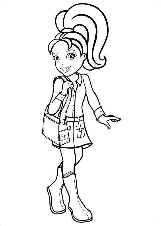 Polly Pocket Coloring Pages Pictures