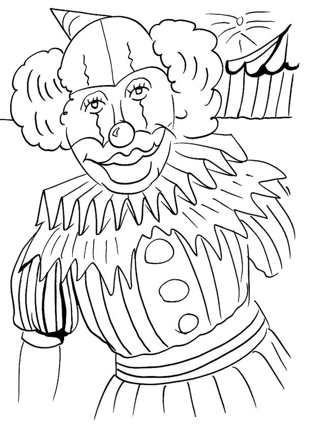 clown coloring pages free printable - photo#26