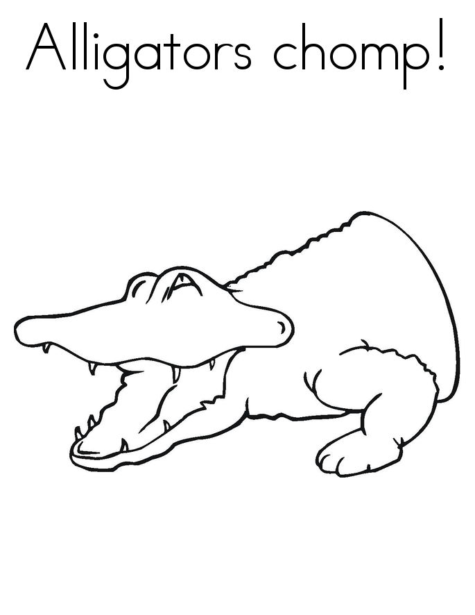 printable alligator coloring pages - Alligator Coloring Pages Print