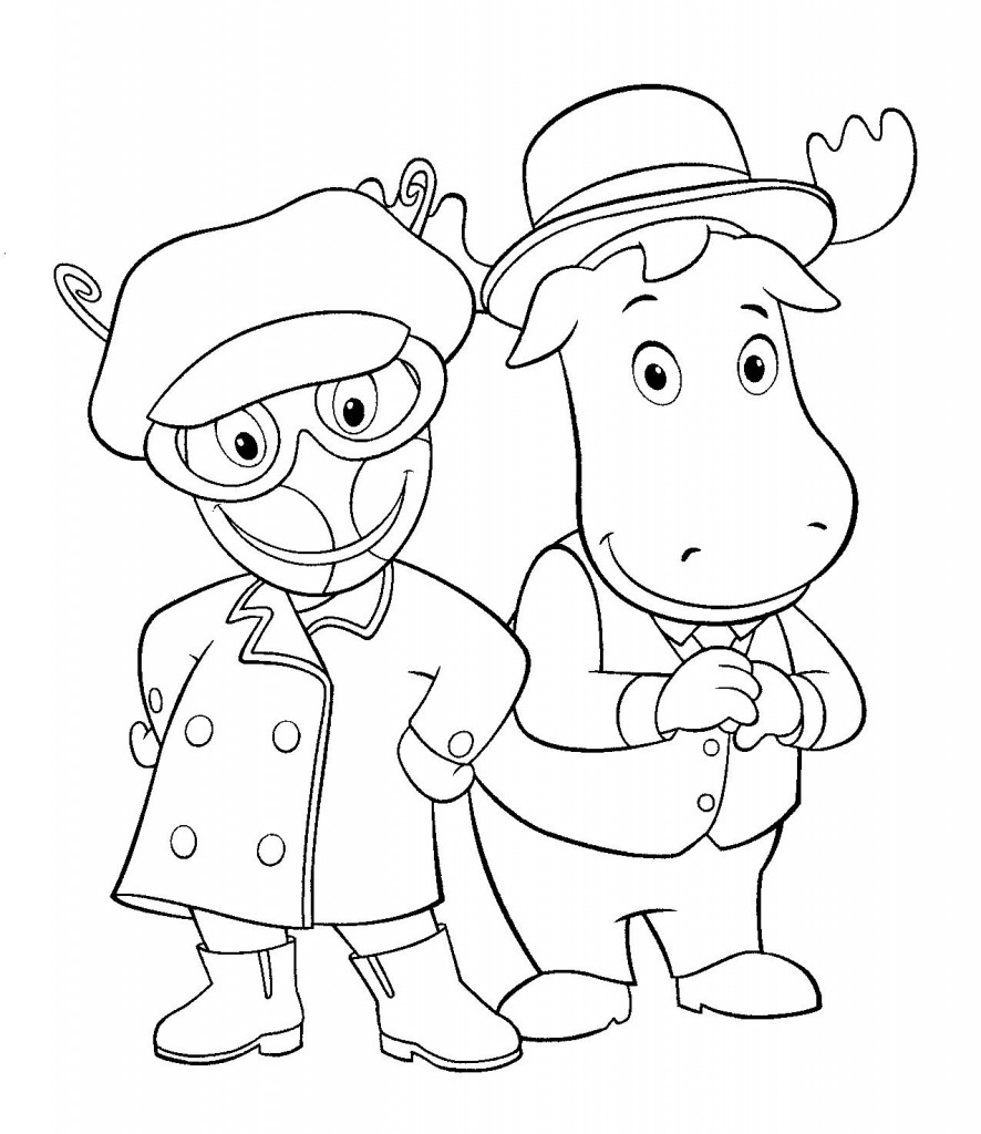 Free printable backyardigans coloring pages for kids for Coloring book pages for toddlers