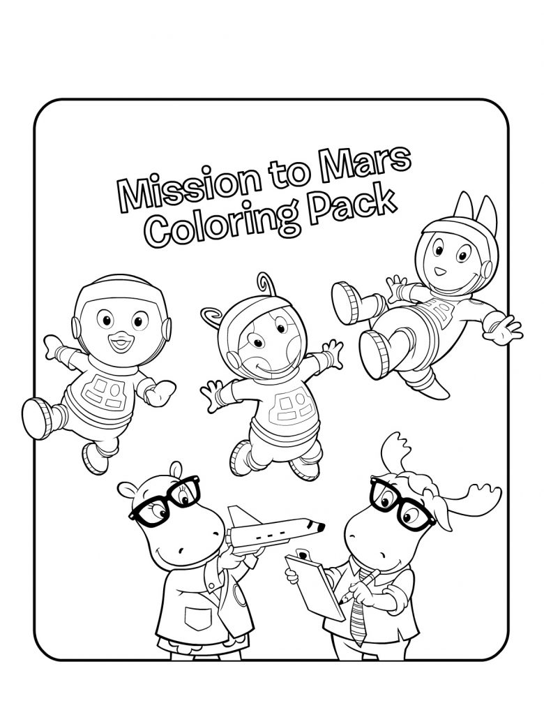 free printable backyardigans coloring pages for kids Forest Coloring Pages  Backyard Coloring Pages
