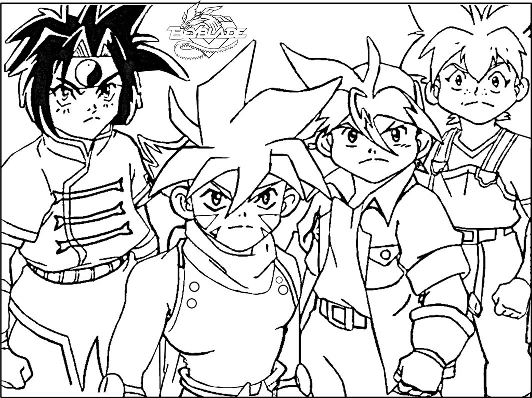 free printable beyblade coloring pages for kids - Beyblade Metal Fury Coloring Pages