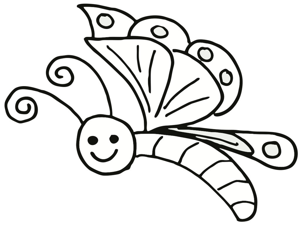 Vibrant image regarding butterfly printable coloring pages
