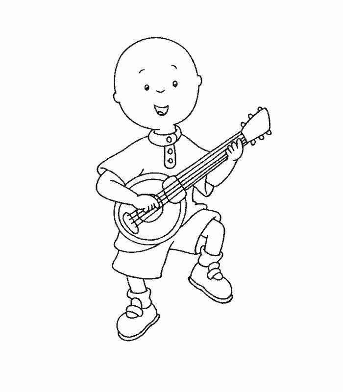 Printable Caillou Coloring Pages For Kids
