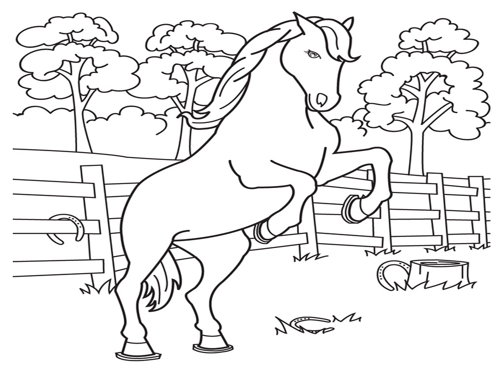 Free printable horse coloring pages for kids for Free printable coloring pages for girls