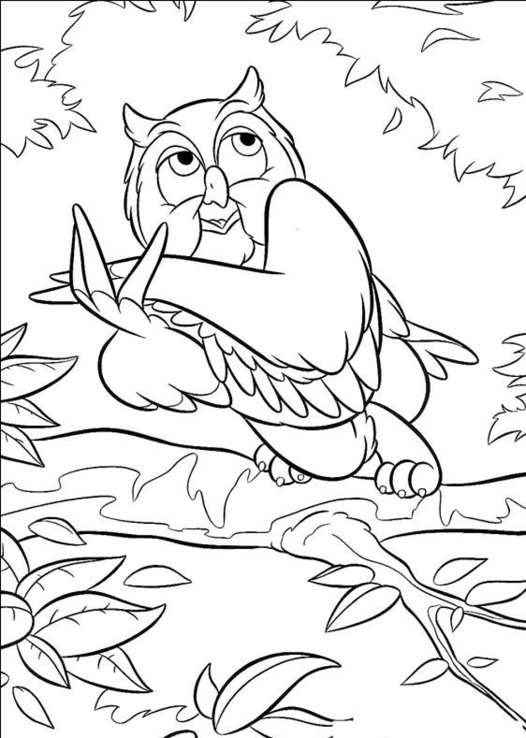 printable coloring pages of owls - Cute Owl Printable Coloring Pages