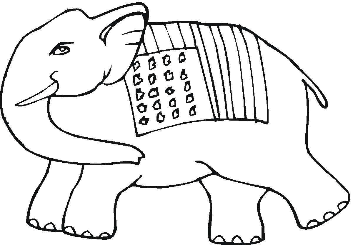 Elephant coloring pages free - Printable Elephant Coloring Pages