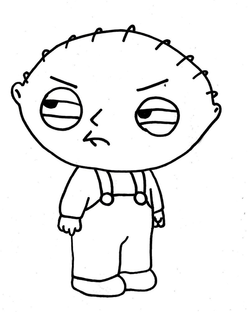 Free printable family guy coloring pages for kids for Photo to coloring page