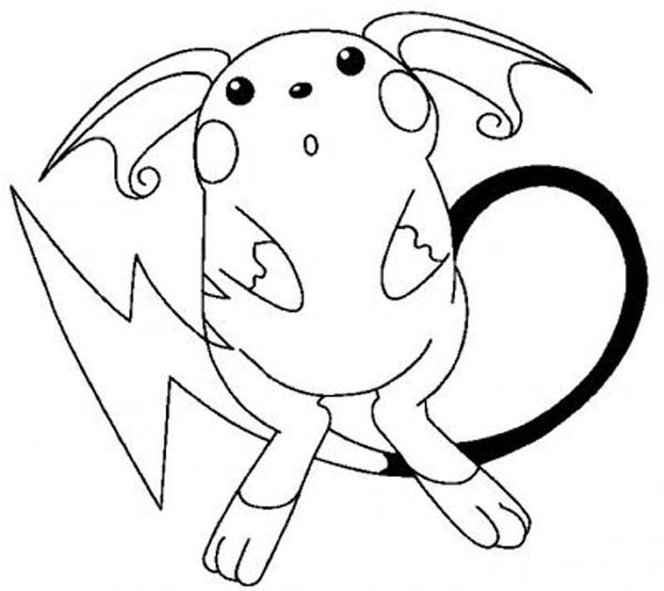 pikachu in action coloring pages - photo#26