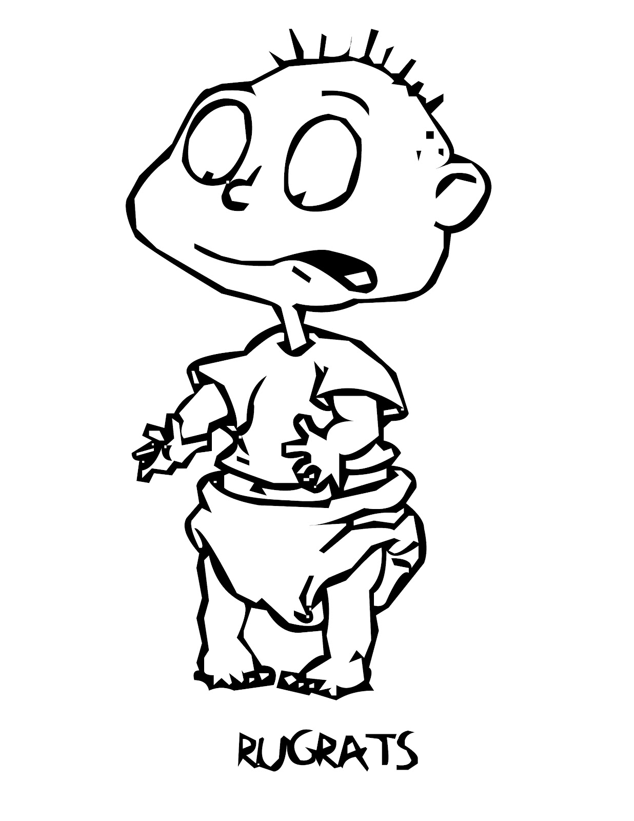 free printable rugrats coloring pages for kids - Rugrats Characters Coloring Pages