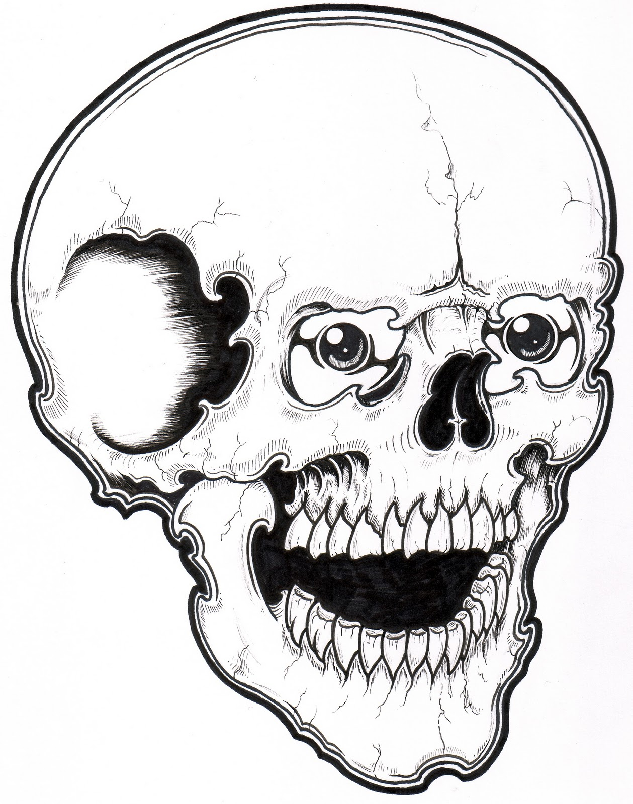 printable skull coloring pages - Halloween Skulls Pictures