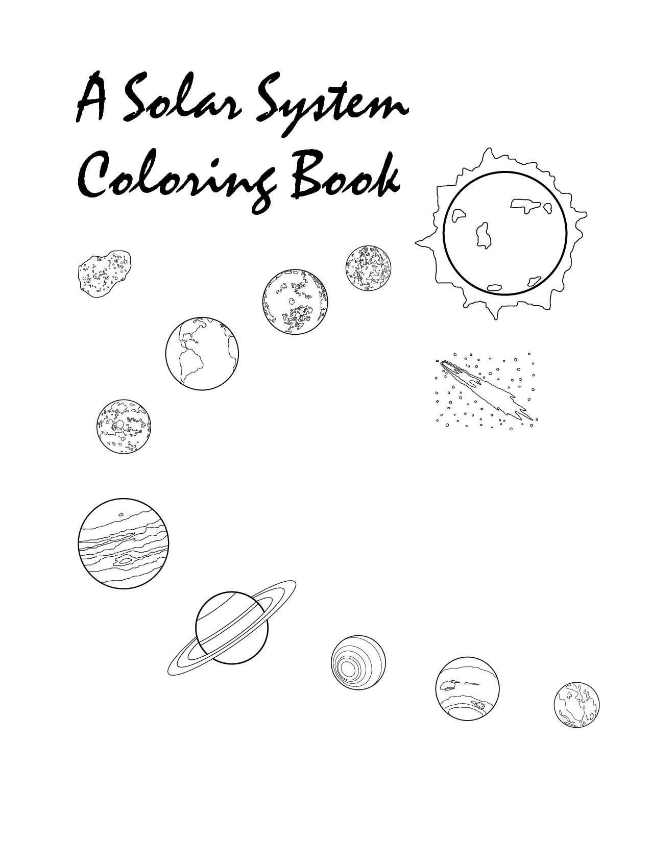 printable solar system coloring pages for kids - Colour Worksheet For Kids